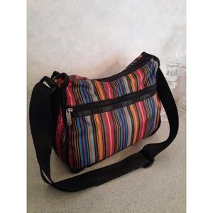 LeSportsac Striped Classic Hobo